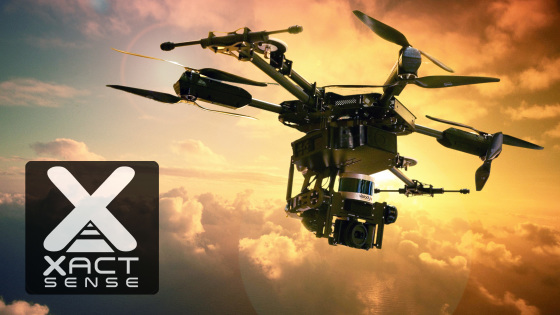 "XactSense ""MAX8"" 8-rotor UAV First to Fly Velodyne's New Low-Cost LIDAR ""Puck"""